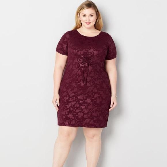 Plus Size Burgundy Corset Dress NWT